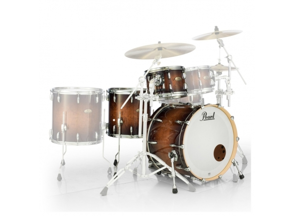 Conjuntos de bateria sem ferragens Pearl Session Studio Select 18 gloss barnwood brown