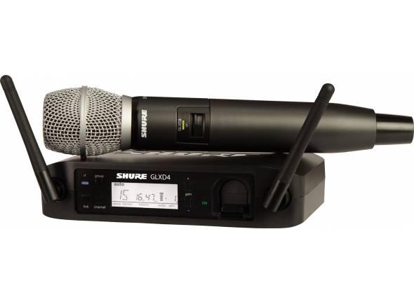 Sistema sem fios com microfone de mão Shure GLXD24/SM86