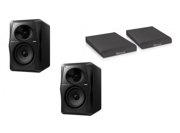 Monitores de estúdio activos Pioneer DJ  VM-50 Bundle Isolation Pads