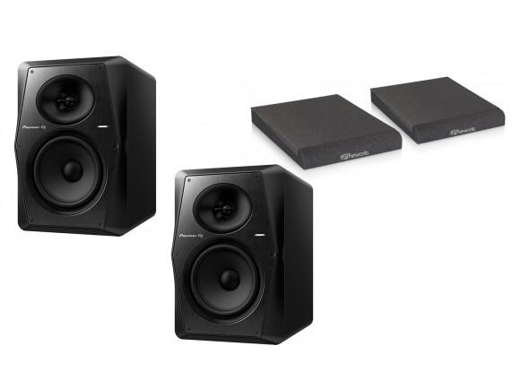 Monitores de estúdio activos Pioneer DJ  VM-70 Isolation Bundle
