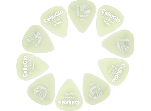 Palhetas para guitarra Planet waves 1CCG2-10 Cellu-Glo Picks Light