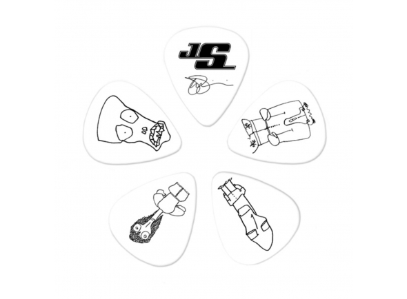 Palhetas para guitarra Planet waves Joe Satriani Picks 0,71 mm White Pack of 10