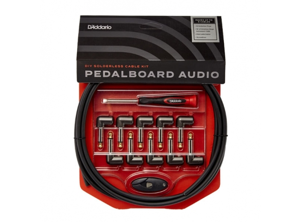 Kit de cabo e conectores sem solda para pedalboard/Cabos de Patch Planet Waves PW-GPKIT-10