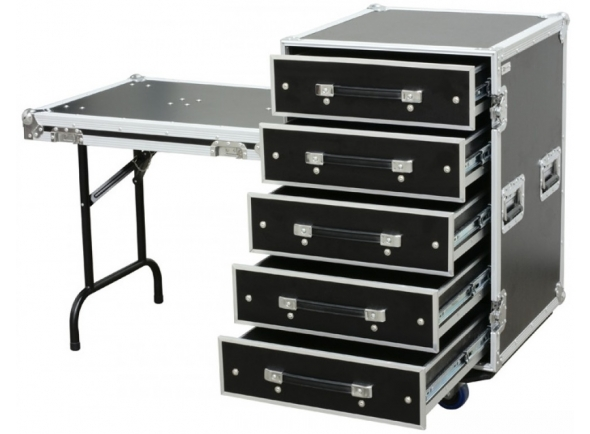 Cases Power Dynamics Rack Metálica c/ 5 Gavetas + Mesa (PD-FA6)
