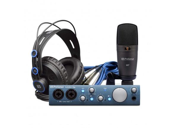 Conjunto de gravação de interface de áudio USB/Conjunto para estúdio Presonus  AudioBox iTwo Studio