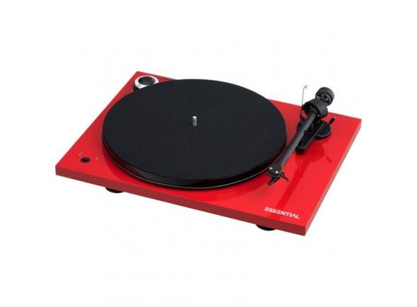 Gira-discos de alta fidelidade Project Essential III Speed Box Vermelho