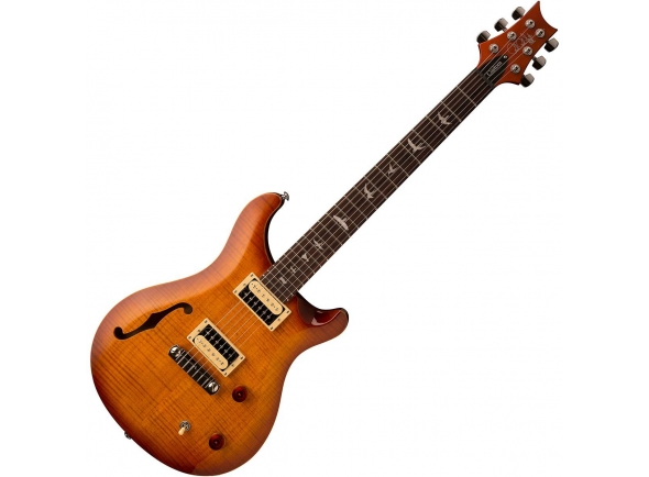 Guitarra elétrica semi hollow/Guitarras formato Double Cut PRS SE Custom 22 Semi Hollow VS
