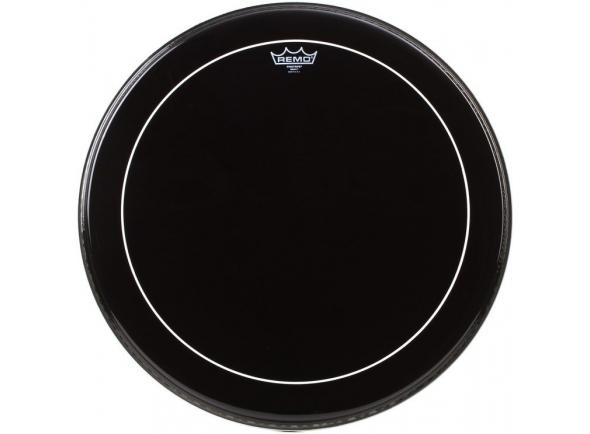 Pele para Bombo 24 Remo 24 Pinstripe Ebony Bass Drum