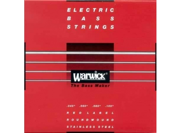 Conjunto de cordas para baixo elétrico/Jogo de cordas .040 para baixo elétrico de 4 cordas Rock Bass - Warwick 42210 ML Red Label .040-.100