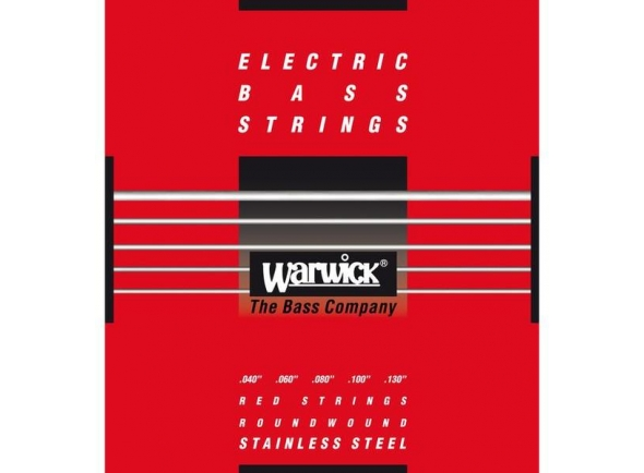 Conjunto de cordas para baixo elétrico/Jogo de cordas .040 para baixo elétrico de 5 cordas Rock Bass - Warwick 42300 ML Red Label