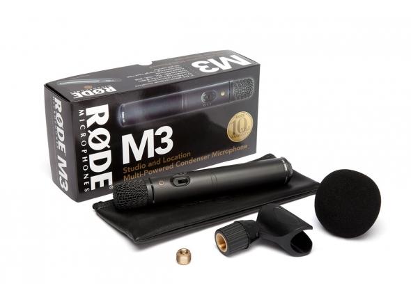 Microfone condensador membrana pequena Rode M3