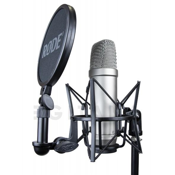 Microfone de membrana grande Rode NT1-A Complete Vocal Recording