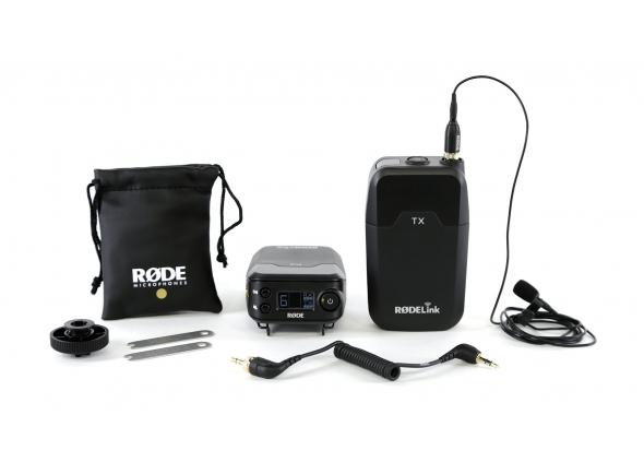 Sistema sem fio com microfone lapela Rode RodeLink Filmmaker Kit