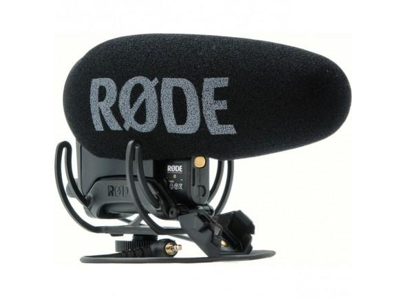 Microfone Condensador Direcional para Câmara e vídeo/Microfone para Câmara Rode VideoMic Pro+