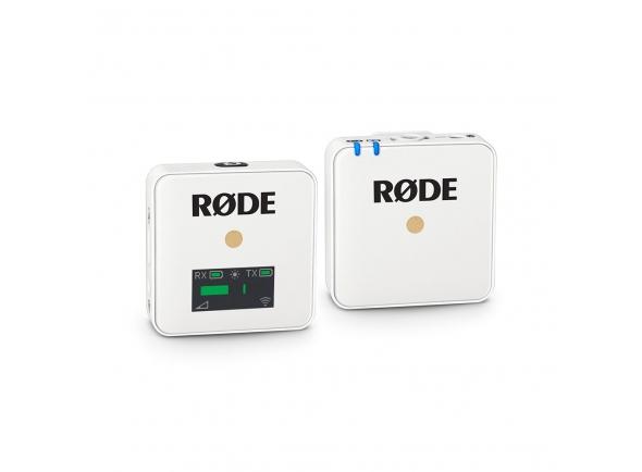 Sistema sem fio com microfone lapela Rode Wireless GO White