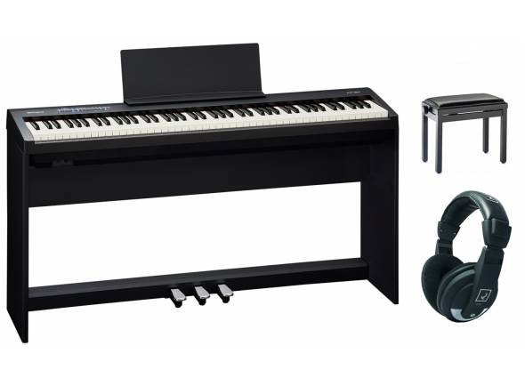 Pianos Digitais de Móvel Roland FP-30 BK Home Bundle