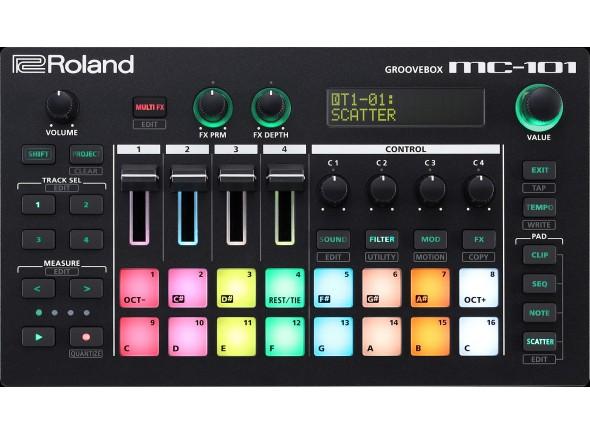 Sintetizadores e Samplers/Sequenciadores de ritmos Roland MC-101 Caixa de Ritmos GROOVEBOX B-Stock