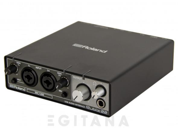 Interface de áudio para dispositivos Apple iOS, Mac e PC/Interface Áudio USB Roland RUBIX22 USB Audio Interface 24-bits 192kHz