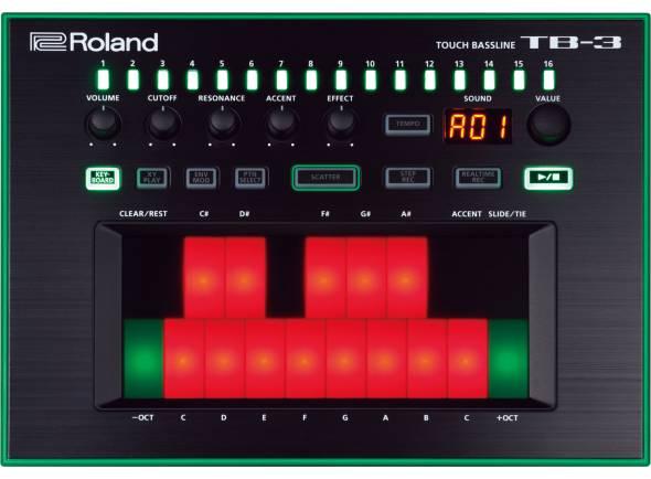 Sintetizador/Sintetizadores Roland TB-3 Sintetizador Touch Bassline