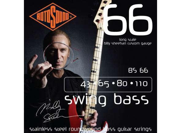 Outras cordas para baixo elétrico Rotosound BS66 Billy Sheehan
