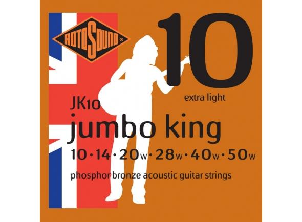 Jogo de cordas .010 Rotosound JK10 Jumbo King 10-50