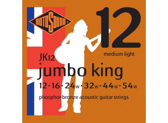Jogo de cordas .012 Rotosound JK12 Jumbo King