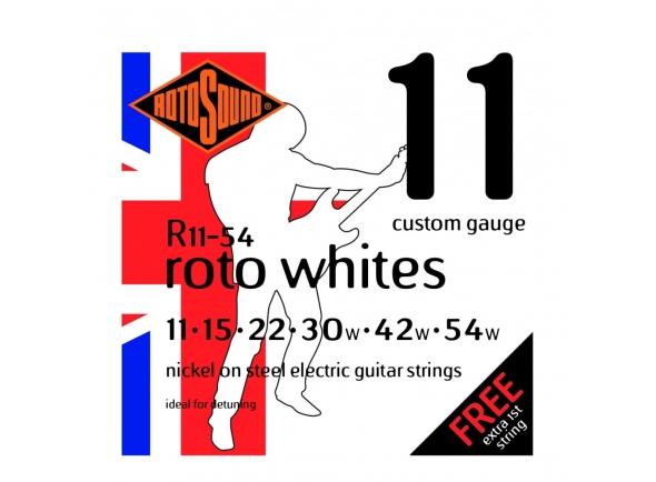 Jogo de cordas .011 Rotosound Nickel Medium Whites
