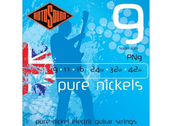 Jogo de cordas .009 Rotosound Pure Nickel PN 9-42