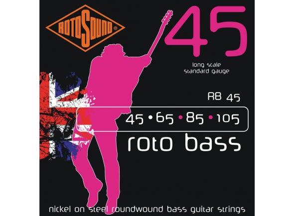 Jogos de cordas para baixo elétrico Rotosound RB45