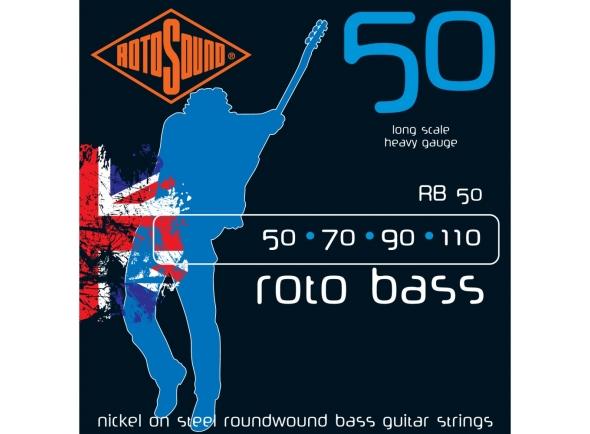 Jogos de cordas para baixo elétrico Rotosound RB50