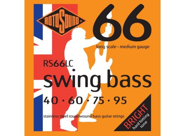 Jogo de cordas .040 para baixo elétrico de 4 cordas Rotosound RS66LC