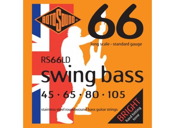 Jogos de cordas para baixo elétrico Rotosound RS66LD