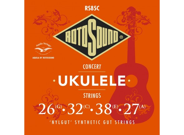 Jogos de cordas para ukulele Rotosound RS85C Nylgut Concert Ukulele Strings