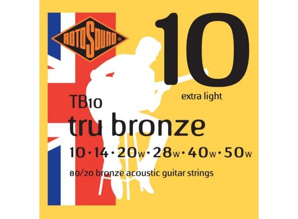 Jogo de cordas .010 Rotosound TB 10-50