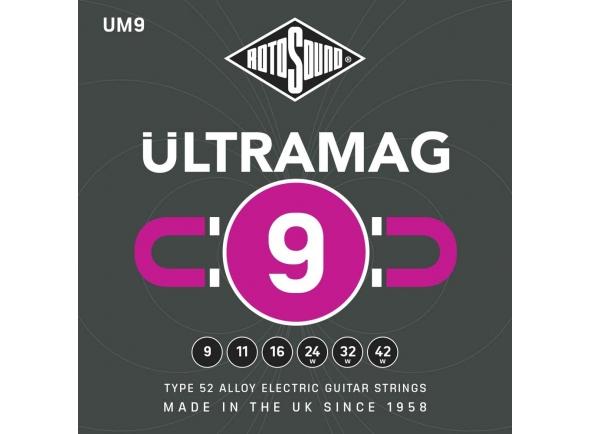 Jogo de cordas .009 Rotosound UM9 Ultramag 9-42