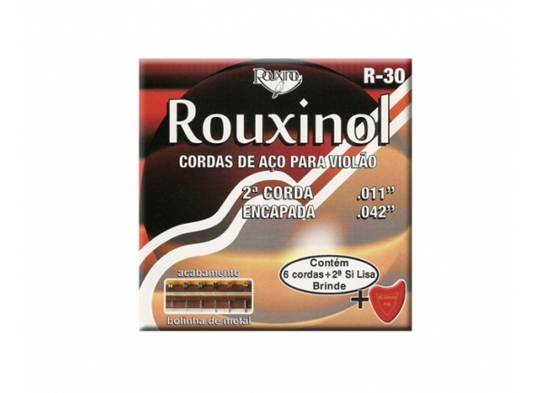 Jogo de cordas .011 Rouxinol Jogo Cordas R-30