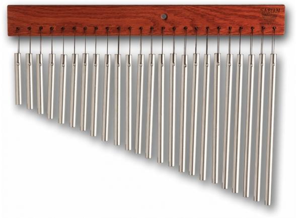 Carrilhão de sinos/Guizeira e sino Sabian  Aluminium Bar Chimes - 24 Bars