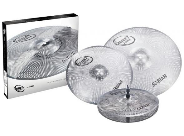 Conjunto de pratos de treino/Conjunto de Pratos Sabian Quiet Tone Cymbal Set QTPC503