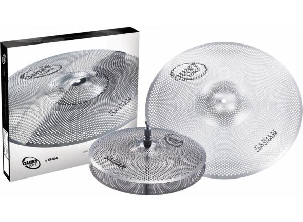Conjunto de pratos de treino/Conjunto de Pratos Sabian Quiet Tone Practice Cymbal Set QTPC501 13