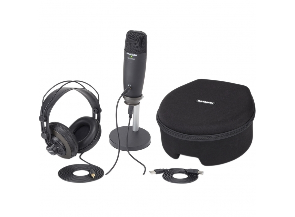 Pack microfone USB/Microfone USB Samson C01U Pro Podcasting Pack Studio