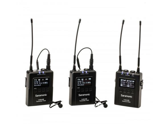 Sistema sem fio com microfone lapela Saramonic UwMic9S Kit 2 (TX+TX+RX)
