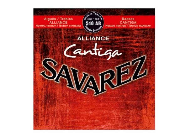 Jogos de cordas para guitarra clássica Savarez  Jogo de Cordas para Guitarra Clássica  510AR Cantiga