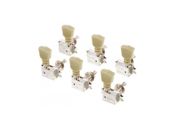 Sistemas mecânicos 3L/3R para guitarra elétrica Schaller Keystone DR 3L/3R NI