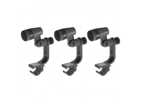 Conjunto de 3 microfones dinâmicos/Microfone para tarola Sennheiser  E604 3Pack