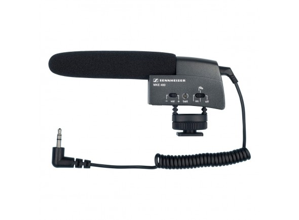 Microfone condensador para câmaras e vídeo/Microfone para Câmara Sennheiser MKE 400