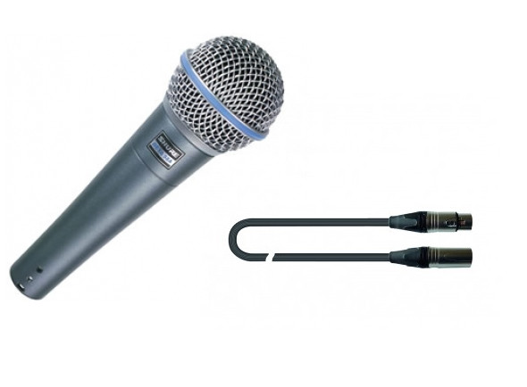 Microfone Vocal Dinâmico Shure Beta 58 Set