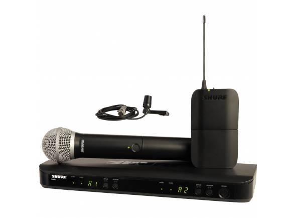Sistema sem fios com microfone de mão Shure BLX1288/CVL