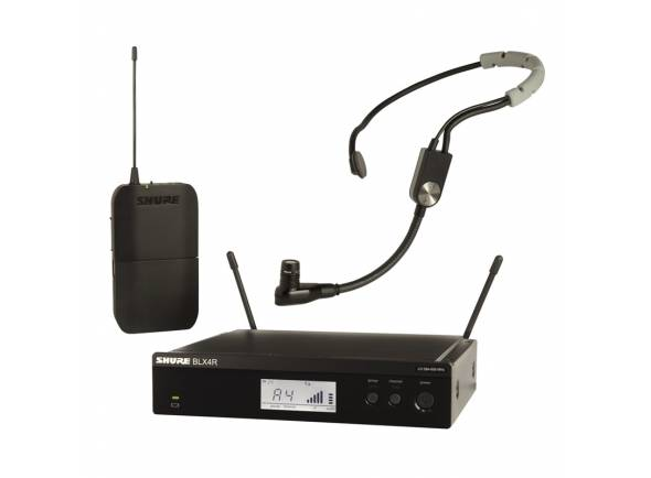 Sistema sem fio com microfone de cabeça Shure BLX14R/SM35