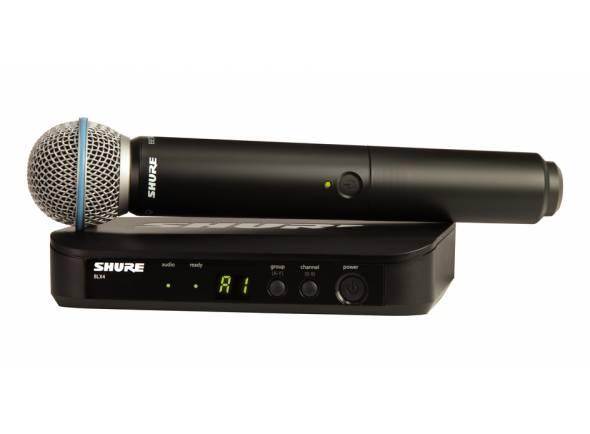 Sistema sem fios com microfone de mão/Sistema sem fios com microfone de mão Shure BLX24/Beta58 T11