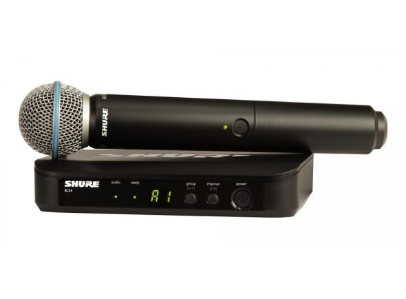 Sistema sem fios com microfone de mão/Sistema sem fios com microfone de mão Shure BLX24/Beta58 T11 B-Stock